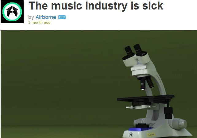 The music industry is sick…